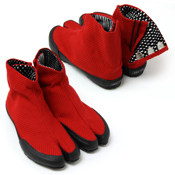 Final Sale]Red Sashiko Split-Toe Tabi
