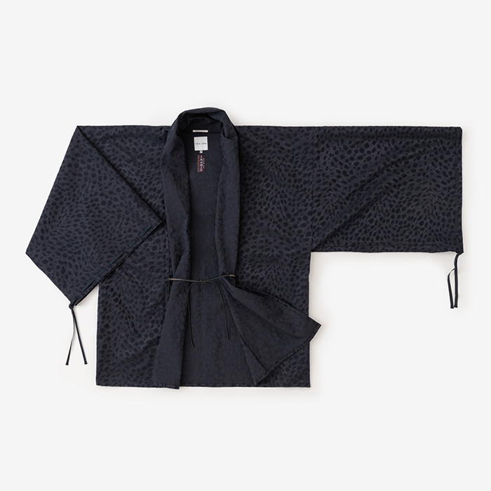 Haori Jacket with Gathered Sleeves Jacquard Navy : SOU • SOU US ...