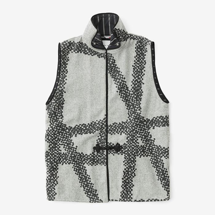Felted Wool Blend Haori Vest Bar : SOU • SOU US Online Store