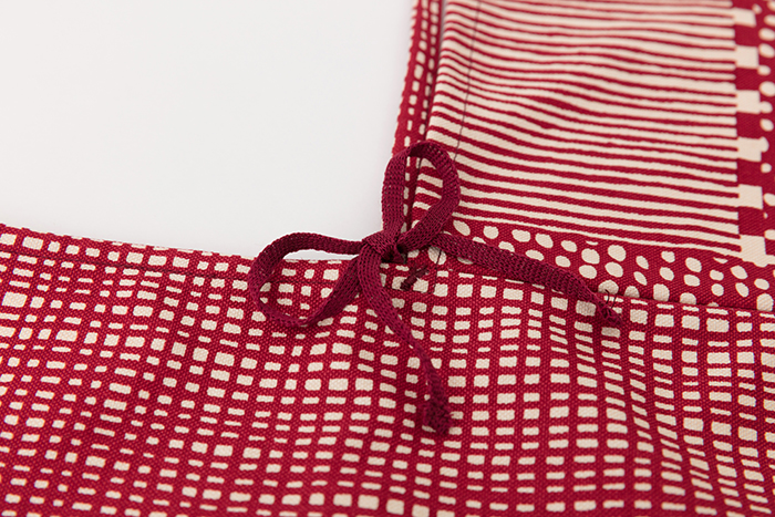Origami Tote Bag Dots And Stripes Red SOU O US Online Store