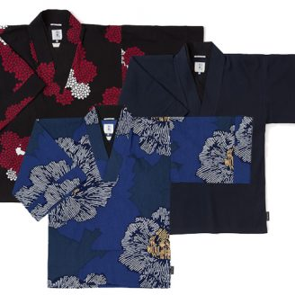 """Chizimi"" Cotton Kimono Tops"