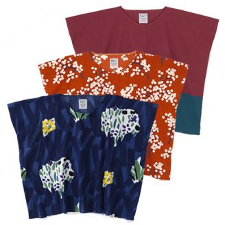 """Square"" chizimi cotton tops"