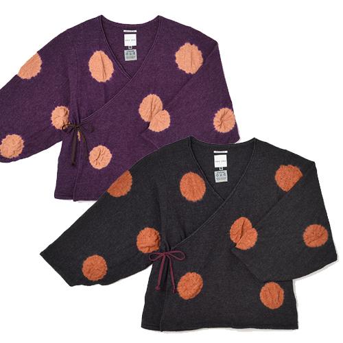 Wrap Tops Wool Shibori