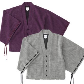 Haori Cardigan with Gathered Sleeves